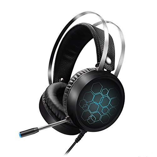 YSSWEET Gaming Headset, 3.5MM Stereo Noise Cancelling,Headphones with Colorful LED Light, Microphone and Volume Control,Suitable for PC, Laptop, PS4, Xbox One,Best Gift
