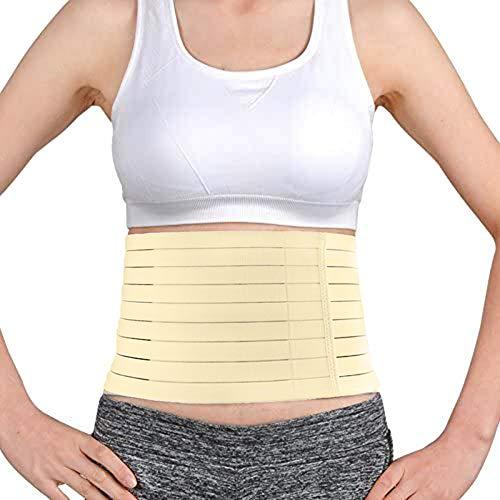 "TODDOBRA Abdominal Elastic Binder for Men Women, Premium Panel Postpartum Post-Operative Post-Surgery Wrap/Lower Waist Back Support Belt Compression Wrap Waist Trimmer(Large 35-39"")"