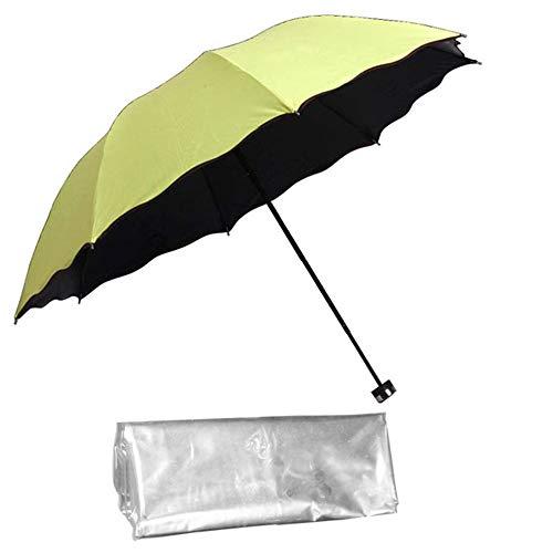 Daily Necessities Winddichter Klappschirm mit transparenter Schutzhülle, tragbarer Outdoor-Sonnenschirm für den Regenschutz, Ganzkörper-Gesichtsschutz-Regenmantel, Sonnenschutz-UV-Schutz-Regenschirm
