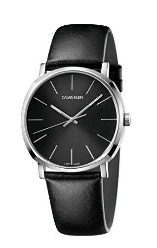 Calvin Klein Herren Analog Quarz Uhr mit Leder Armband K8Q311C1