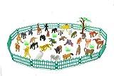 Jamara 460479 Wild Animals - Juego de Animales (53 Piezas, 53 Piezas, Ideal para Cada Zoo, Detalles, promueve el Juego de rol y la imaginación, Altura: 30-95 mm)