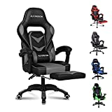 ALFORDSON Gaming Chair Racing Chair Executive Sport Office Chair with Footrest PU Leather