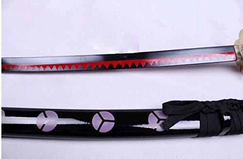 S0251 Anime ONE Piece Roronoa Zoro SHUSUI Sword Blood RED FIRE Flame Blade 56'