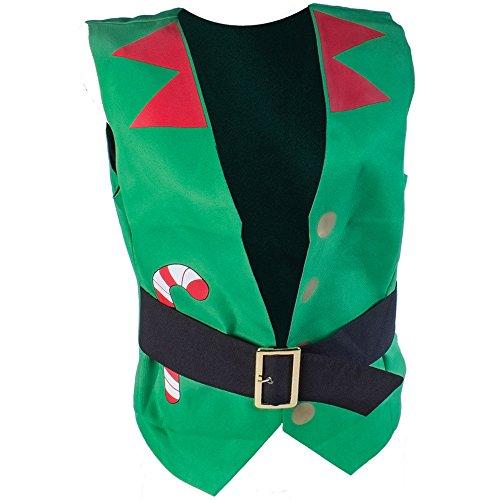 CHRISTMASSHOP Christmas Shop - Chaleco navideño (L) (Verde Elfo)