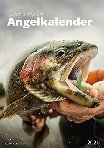 Der große Angelkalender 2020 - Bildkalender (30 x 42) - mit Zusatzinformationen aus der Anglerwelt - Wandkalender