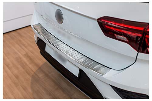 tuning-art BL932 Ladekantenschutz mit Abkantung für VW T-ROC A1 2017-, Farbe:Silber