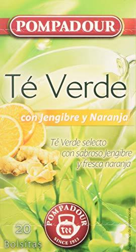 Pompadour Té Verde, Jengibre y Naranja, 20 Bolsitas