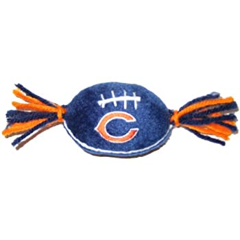 Pets First NFL Catnip Toy Chicago Bears CAT Toy in Football Shape with Team Logo in Vibrant Team Color