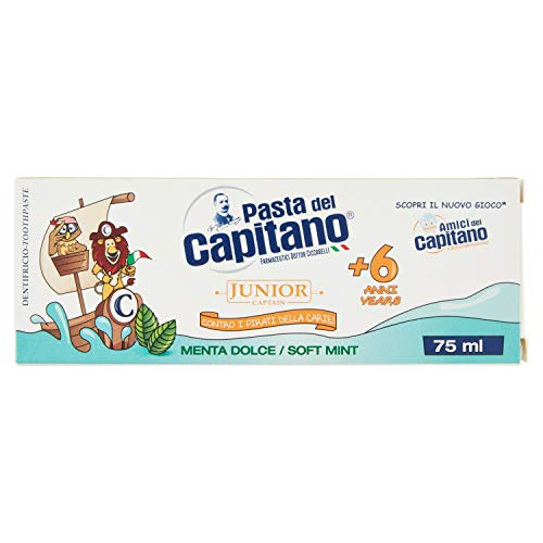 Pasta del Capitano Baby/Junior + 6 Jahre - Süsse Minze, 75 ml