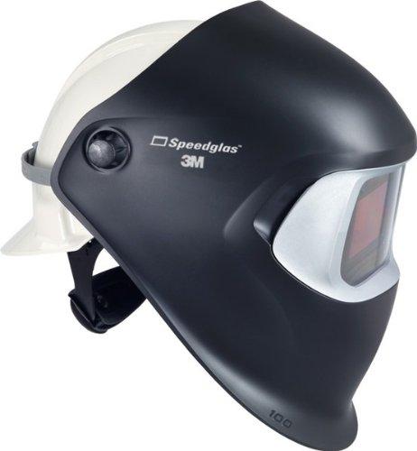 3M Speedglas 100 Welding Helmet Black 07-0012-31BL-HH, with Hard Hat, Hard Hat Adapter, and ADF 100V