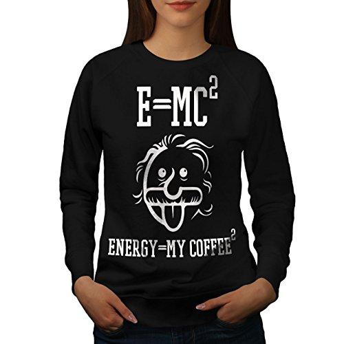 wellcoda Einstein Kaffee Frau Sweatshirt Lustig Lässiger Pullover