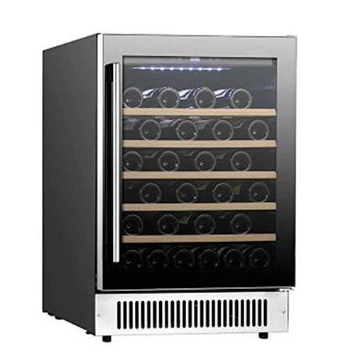 Vino Refrigetator - Cooler, refrigerador, puerta de cristal, elegante, prima de almacenamiento, Filtro de carbón activado, acero inoxidable, 11-18 deg; C, bebidas nevera, refrigerador de vino (Color: