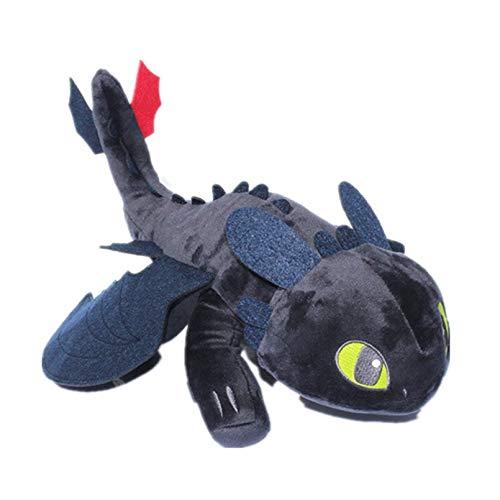 ZZYOU 45 cm / 17,72 Pulgadas Toothless Light Fury/Night Fury Peluche Cómo Entrenar a tu dragón 3 El Mundo Oculto Muñeco de Peluche Juguetes Regalo para niños
