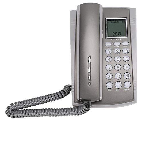 Teléfono con Cable de Montaje en Pared, teléfono Fijo de Oficina, identificador de Llamadas con función de Silencio de Escritorio para la Oficina del Hotel