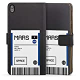 DeinDesign Étui Compatible avec Sony Xperia E5 Étui Folio Étui magnétique NASA Astronaute Billet...