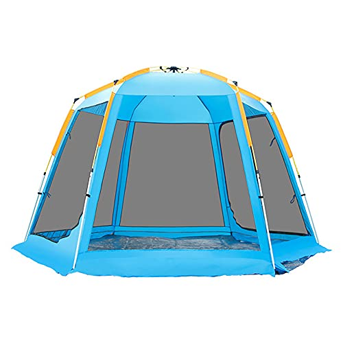 FLZXSQC Tienda Transpirable De Cuatro Caras De Espacio Grande, Carpa Automática De Apertura Rápida Al Agua, Adecuada para El Camping Familiar, Festivales De Camping,Azul