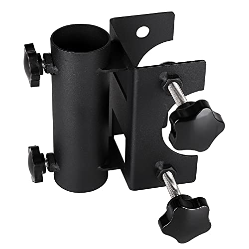 Parasol Holder Patio Umbrella Stand Mount Umbrella Stand Bench Buddy Umbrella Holder Fixed Clip Umbrella Clamp for Deck,Chair,Desk,Dock,Beach Courtyard Balcony,Tables,Boats,Tailgates…