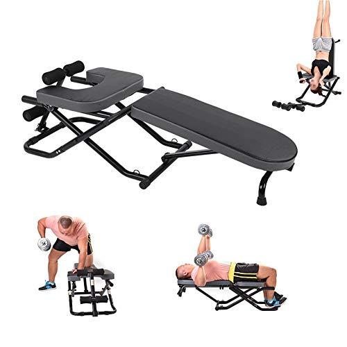 SOULONG 2 in 1 Sgabello per Yoga+ Panca Pieghevole per Esercizi Addominali e Crunch, Yoga Chair per Famiglia e Palestra, Sedia Pieghevole Multifunzionale per Uso Domestico, Fino a 150 kg
