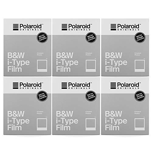【国内正規品】 Polaroid Originals インスタントフィルム B&W Film for I-TYPE モノクロフィルム 8枚入り 6個セット 4669