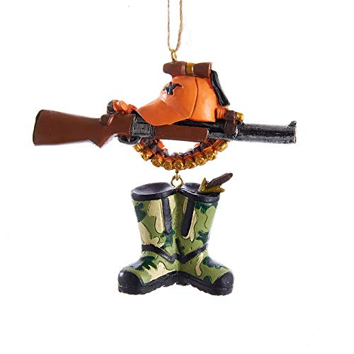 The Bridge Collection Resin Hunting Rifle & Boots Ornament