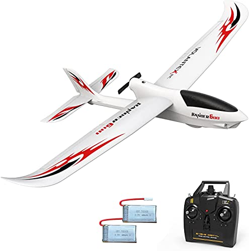 VOLANTEXRC RC Glider Plane Remote Control Airplane Ranger600 Ready to Fly, 2.4GHz Radio Control Aircraft with 6-Axis Gyro Stabilizer, Excellent Glider Performance for Beginners (761-2 RTF)