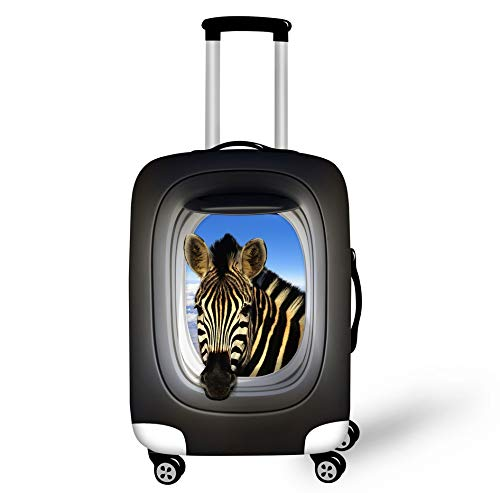 Animal Zebra Estuche De Equipaje Maleta Protectora Resistente Al Desgaste Cubierta De Polvo Funda De Equipaje De Viaje Se Adapta A 26-28 Pulgadas Protector De Equipaje De Viaje L
