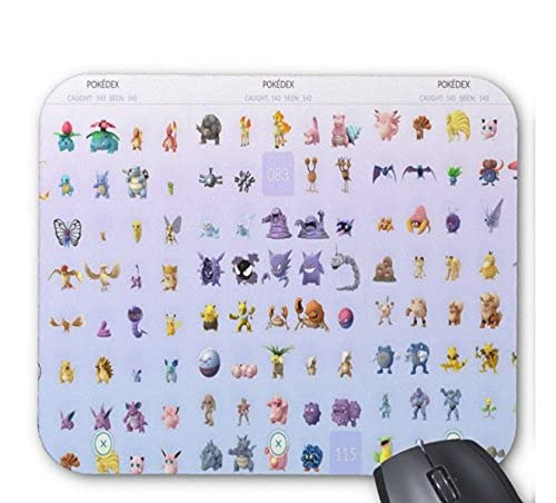 Younini Pokémon Go Tapis de souris rectangulaire très épais 25,4 x 30,5 cm