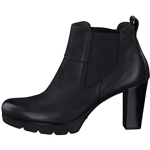 Paul Green Damen Plateau-Stiefelette, Frauen Chelsea Boots, feminin elegant Women's Woman Freizeit leger Stiefel Bootie,Schwarz,4.5 UK / 37.5 EU