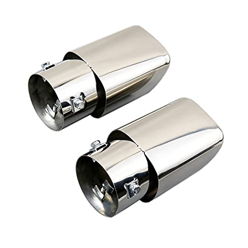 2Pcs Stainless Steel Chrome Tailpipe Muffler Tail Exhaust Tip Cover Compatible For Honda CRV CR-V 2017-2019 Accessories,Compatible For Range Rover 2005-2010, Range Rover Sport 2005-2010