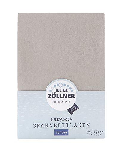 Julius Zöllner 8320147760 - Spannbetttuch Jersey für das Kinderbett, Größe: 60x120 / 70x140 cm, Farbe: taupe