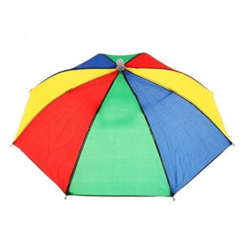 Aofocy Umbrella Hat Novelty Outdoor Sun Rain Headwear Umbrella Hat Sunshade...