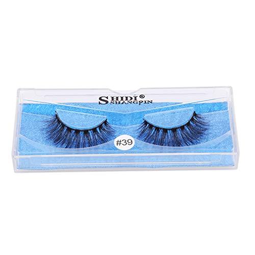 Timetries Long Cross Faux Cils Maquillage Naturel Épais Noir Naturel 3D Faux Eye Lashes Extension Maquillage, Style 3