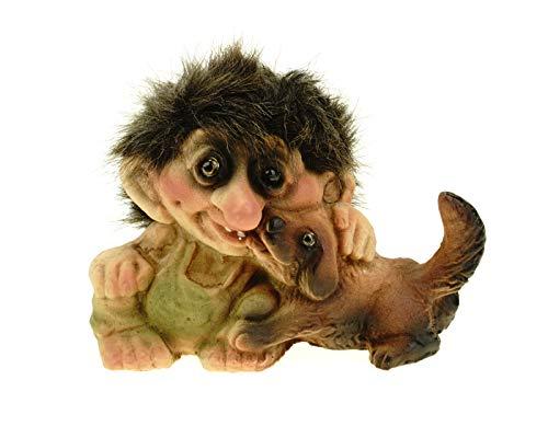 Authentic Nyform Troll Handmade Troll Kissing Dog