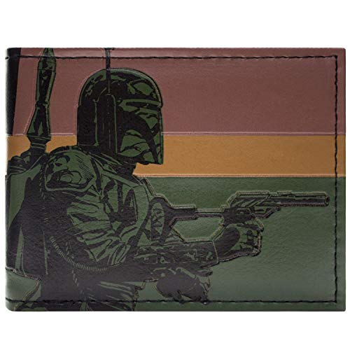 Star Wars Boba Fett Grün Portemonnaie Geldbörse