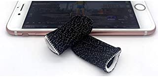 COODIO Gaming Finger Sleeve Touchscreen Finger Gloves Conductive Fiber Cap Anti-Sweat Breathable Touch and Sensitive for Mobile Phone Games Black+White