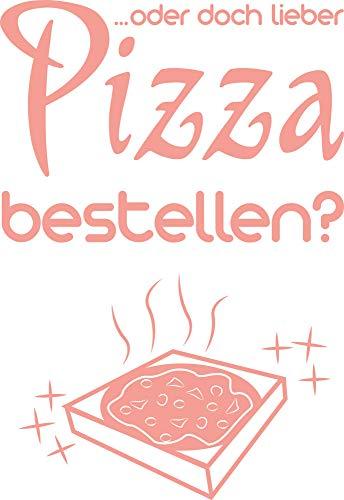 Koelkast Decal Muursticker Muursticker voor Keuken Zeggen Pizza Bestel 44x30cm 819 Dalhia Pink
