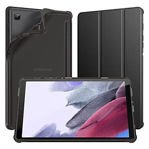 Dadanism Funda Compatible con Galaxy Tab A7 Lite Funda, Protector de TPU Suave y Ligero Inteligente Case Cover para Galaxy Tab A7 Lite 8,7 Pulgadas 2021 (SM-T225 / SM-T220), Negro