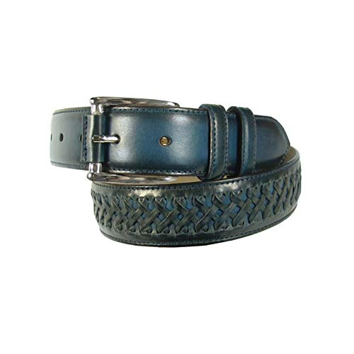 Leyva - Cinturón de hombre piel en color azul (110 cm)