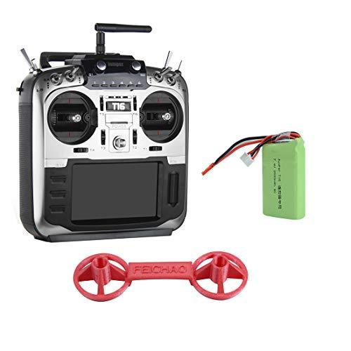 jumper T16 PRO con trasmettitore Integrato multiprotocollo modulo Open Source Hall Gimbal JP4-in-1 RF 2.4G 16CH 4.3 'LCD 16 CH TX per FPV Racing Drone (Left Throttle+Battery+Rocker Cover)