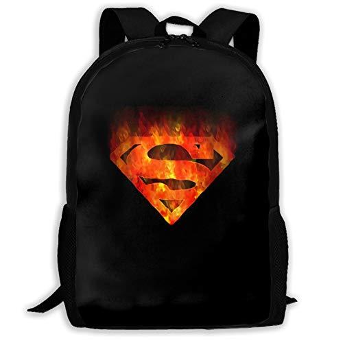 Super-Man Boys and Girls Adult School Backpack, Travel Schoolbag,Big Bookbag (One Size,Black)