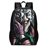 Villain Joker Teeth Camera Comics 17 Inch School Bag Backpack College Bag Laptop