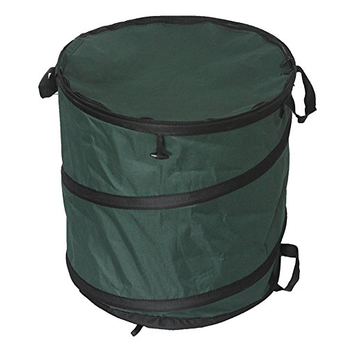 Great Deal! 23 Gallon Garden Waste Bag, Camping Trash Garbage Can, Reusable Gardening Lawn and Leaf ...