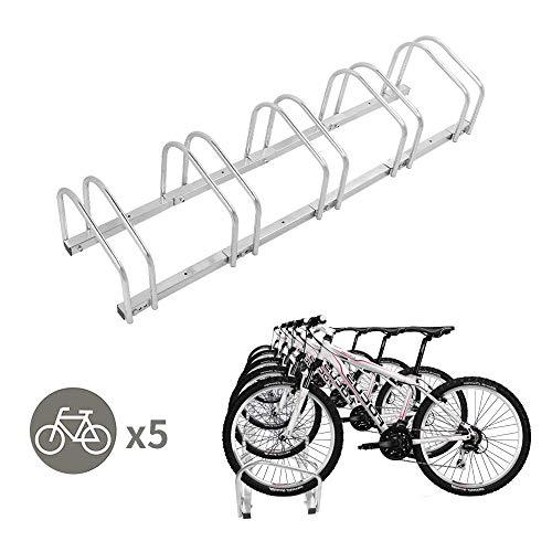 LLY Houseware 5 Bicycle Floor Parking Adjustable Storage Stand Bike Rack Parking Garage