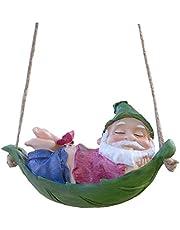 Resina De Mentira Santa Claus Estatua Del Jardín Del Árbol Que Cuelga Decoraciones Lindas Elfos Colgante Interior Suministros Decoración De Exteriores Del Ornamento Del Jardín Decoraciones