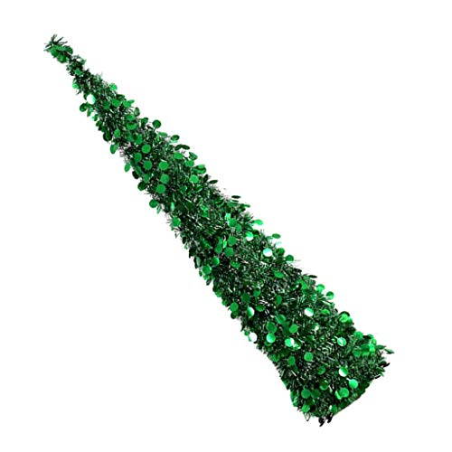 Collapsible Artificial Christmas Tree for Holiday Party Home Fireplace Decor - Green