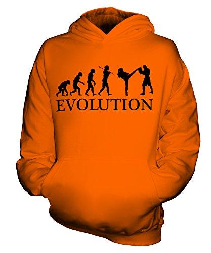 Candymix - MMA Fighter (Femenino) Evolution of Man - Sudadera unisex con capucha para niños y niñas y niños pequeños con capucha, naranja, 1-2 Years