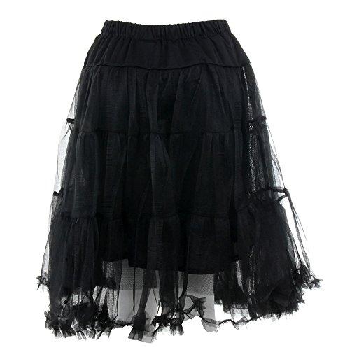 Banned Langer Petticoat (Schwarz) – Small - 3