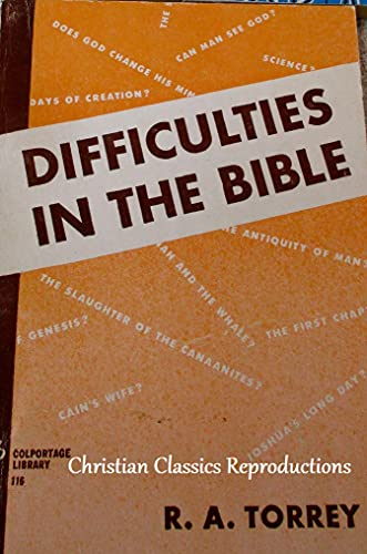 Bible Difficulties: Alleged Errors and Contradictions (English Edition)