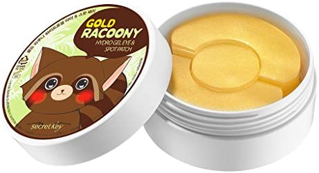[SECRET KEY] Gold Racoony Hydrogel Eye & Spot Patch 90 Sheet - Best Treatment for Bags & Puffiness, Wrinkles and Dark Circles, 24K Gold Hydro Gel Mask with Abundant Essence, Skin Soothing & Hydrating