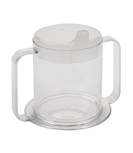 Independence 2-Handle Plastic Mug with 2 Style Lids, Lightweight Drinking Cup with Easy-to-Grasp Handles for Hot and Cold Beverages, Spill-Resistant Adult Sippy Cup (1-Pack)